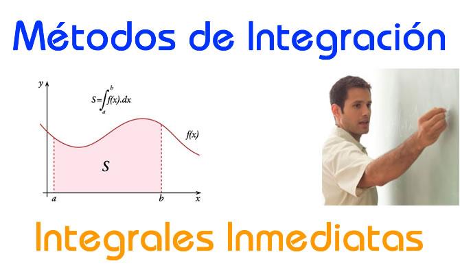 Métodos de Integración-Integrales Inmediatas
